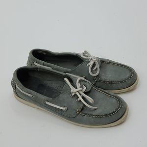 L.L. bean slate blue boat shoes. Womens size 8